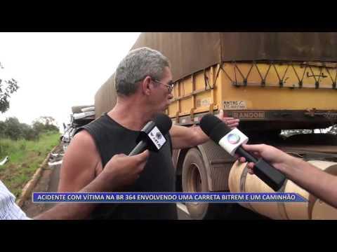BR-364 | Acidente de trânsito entre Jataí e Mineiros faz vítima fatal