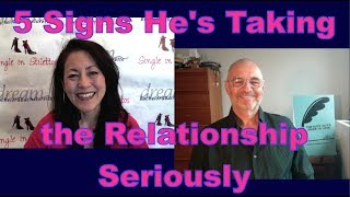 Is her serious about you? Find out the signs that a man is taking the relationship seriously. Find out the 5 signs a man is serious about the relationship with you, from a top dating coach for women.Get relationship advice for women over 40 & relationship tips for women from a top dating coach for women over 40 & 50.Suzanne Oshima, Matchmaker & Dating Coach at Dream Bachelor & Bachelorette & the Founder of Single in Stilettos (http://www.singleinstilettos.com) interviews PJ Dixon, Life, Love & Relationship Coach.Stay tuned for the next Single in Stilettos Weekly Show and get the best dating advice & dating tips!Dating Coach for women in their 40's Dating Coach for women in their 50's3 Secrets Guaranteed to Attract Any Man!Get the Free Report Now!http://www.singleinstilettos.com/m-3-secrets-attract-man-ytSponsored by CupidsPulse http://www.cupidspulse.comSuzanne Oshima is a Matchmaker & Dating Coach at Dream Bachelor & Bachelorette: http://www.dreambachelor.comDating advice for women over 40. Dating advice for women over 50.Get the best dating advice for women over 40 from Robert Manni.