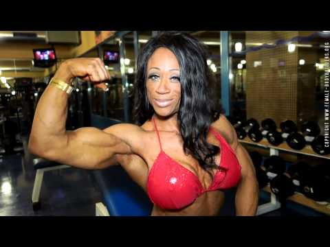Black female bodybuilder workout