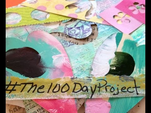 Day 1-2 The 100 Day Project - Art Journaling With Happy Mail (видео)