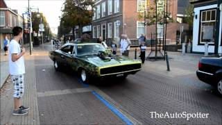 Muscle Cars Doing Burnout