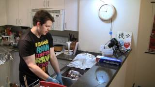 St. Louis Ribs Recipe (per slab of ribs) 1 rib rack, with the fell removed and trimmed of big fat deposits. Dry Rub: 5 parts Brown Sugar 3 parts Salt (KOSHER ...