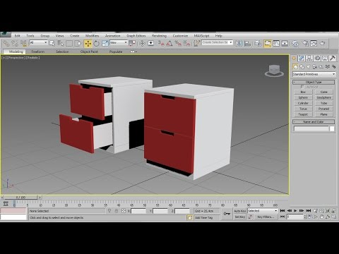 3ds max chest of drawers easy beginner tutorial watch for 3ds max step by step tutorials for beginners