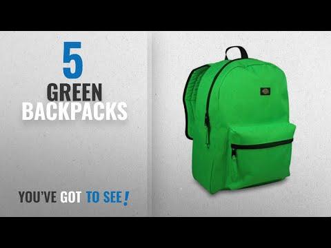Top 10 Green Backpacks [2018 Best Sellers]: Dickies Student Backpack, Neon Green, One Size