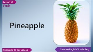 Fruit, English Vocabulary Lesson 21