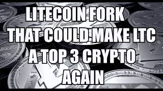 LTC Litecoin is about to Fork to lower transfer fees.