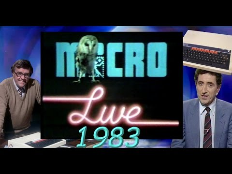 BBC Micro Live (1983) (With the very first live hack on TV)