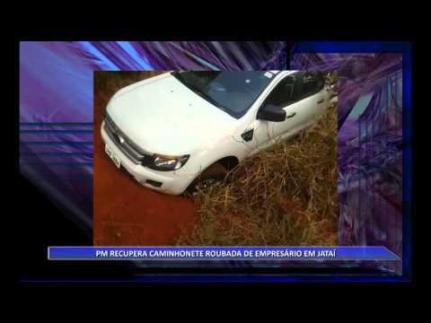 JATAÍ | Polícia recupera caminhonete roubada