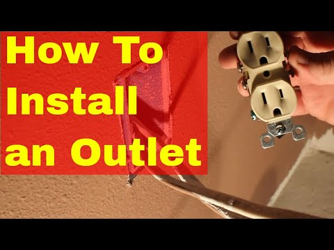 How to install an electrical outlet - loop wiring example