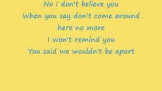 Pink - I don't believe you + Lyrics