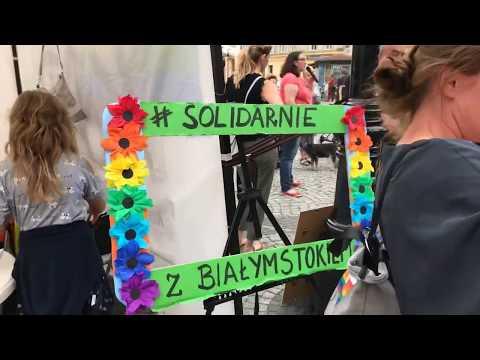 Wideo: Pikieta w Legnicy pod hasłem Solidarni z Białymstokiem