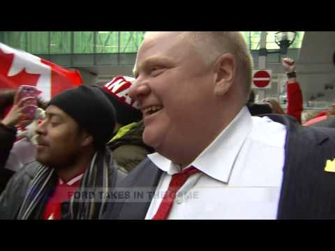 Mayor Rob Ford almost busts his boys into a fire hydrant