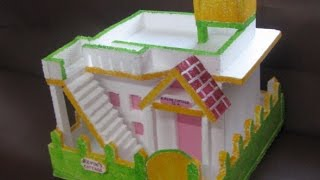 Build model house using thermocol