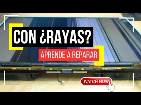 pantalla con rayas, y franjas de colores, falla común en pantallas LED, electrónica nuñez tutoriales