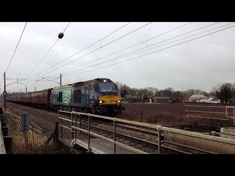 Freight & passenger variety at Brock & Woodacre 28th Febr...