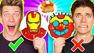 Video PANCAKE ART CHALLENGE Mystery Wheel & Learn How To Make Avengers Wreck It Ralph 2 Diy Fortnite MP3, 3GP, MP4, WEBM, AVI, FLV Juli 2019