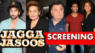 JAGGA JASOOS Special Screening For Kapoor Family.Click this below link and subscribe to our channel to get all updates on Bollywood Movies, and your favorite Bollywood actresses and actors.http://goo.gl/cfijvC