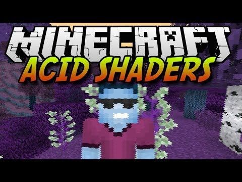 Minecraft Mods | Acid Shaders Mod | 1.7.2/1.7.4 (видео)