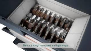 3D animation of Metso EtaPreShred mobile (UK)