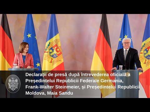 Заявление для прессы Президента Республики Молдова Майи Санду по результатам официальной встречи с Президентом Федеративной Республики Германия Франком-Вальтером Штайнмайером