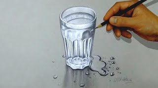 Drawing a glass of water using simple colored pencils.Only 2 colors used, black and white.Time lapse drawing.Time taken around 01.30 hours.Background music : Faith by Vibe Tracks.If you like my video please don't forget to subscribe.Thanks for watching.