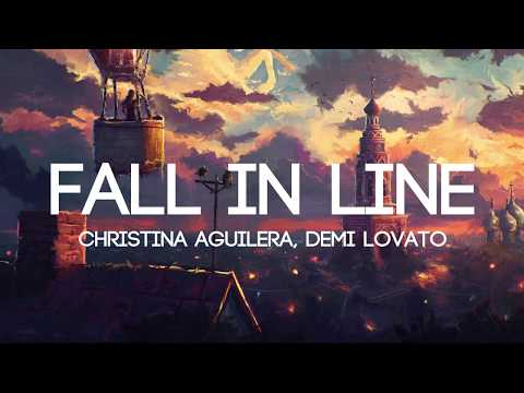 Video Christina Aguilera - Fall In Line ft. Demi Lovato (Lyrics/Lyrics Video) download in MP3, 3GP, MP4, WEBM, AVI, FLV January 2017