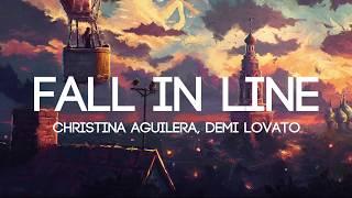 Video Christina Aguilera - Fall In Line ft. Demi Lovato (Lyrics/Lyrics Video) MP3, 3GP, MP4, WEBM, AVI, FLV Mei 2018