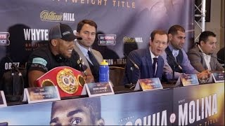 JOSHUA v MOLINA - FINAL PRESS CONFERENCE