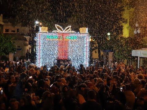Primera Nevada de Navidad en Isla Cristina