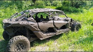 10. CAN-AM MAVERICK X3 MAX X- RS TURBO R 2019 - w błocie in the mud