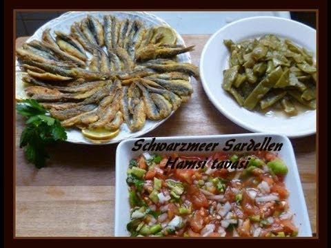Türkische Sardellen Pfanne-Hamsi tavasi