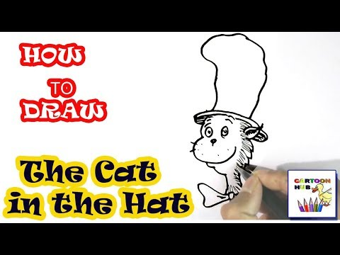 How To Draw The Cat In The Hat In Easy Steps Step By Step For