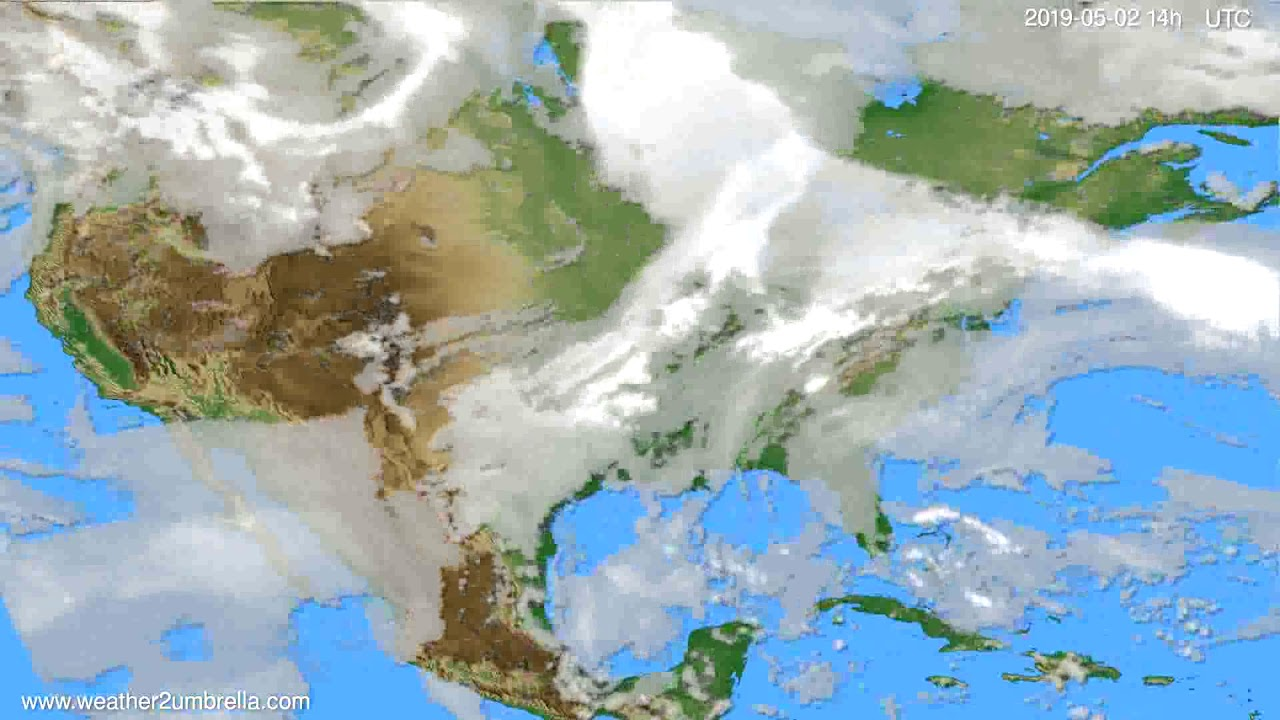 Cloud forecast USA & Canada // modelrun: 12h UTC 2019-04-30