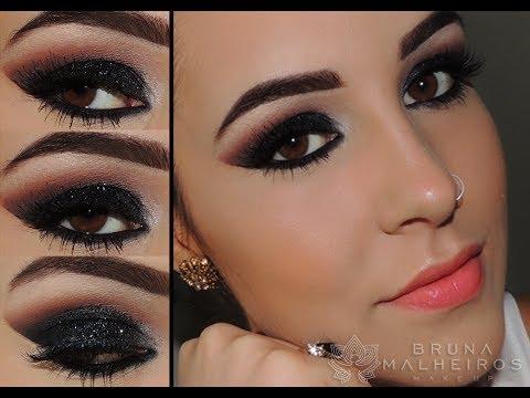 Maquiagem glitterinada black e Versátil