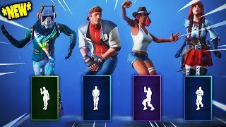 ALL *NEW* Fortnite Season 6 Skins & Dances / Emotes!