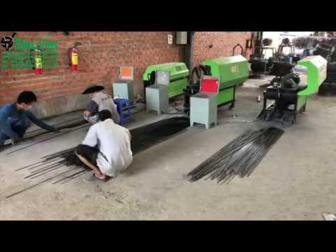 Sử dụng máy duỗi cắt sắt tự động giúp tăng năng suất gấp 5 lần