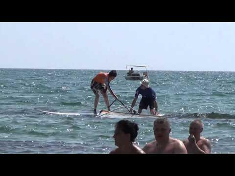 Крым Феодосия поселок Приморский детский пляж