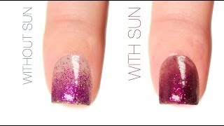 Simple Gradient Color-Changing Nail Art Design