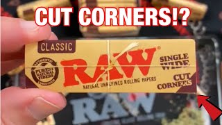 New RAW Cut Corners 👍👍// Poke and she's ready to Smoke by Raw Papers