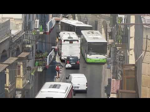Malta Public Transport predicament at Mrabat Street Sliema, 27.8.2017