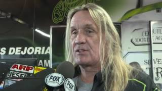 Legendary drummer Nicko McBrain made a trip to the 2017 Amalie Oil NHRA Gatornationals to visit Funny Car driver Alexis DeJoria and get his Nitro Fix.