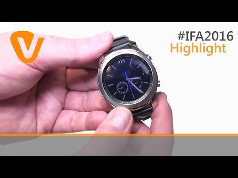 IFA 2016: Samsung Smartwatch Gear S3 classic & frontier. Erster Eindruck im Hands-on-Test (deutsch)