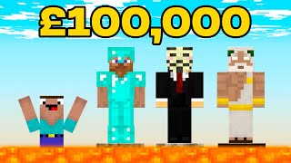 Minecraft NOOB vs. PRO vs. HACKER vs GOD : LAST TO SURVIVE LAVA MAZE $10,000 CHALLENGE in Minecraft!