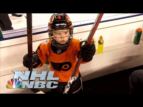 Video: Penguins, Flyers share playing outdoors with families | NHL | NBC Sports