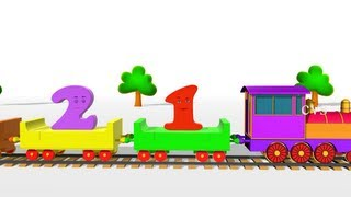 Learn Numbers Train - 3D Animation Numbers Train song for children
