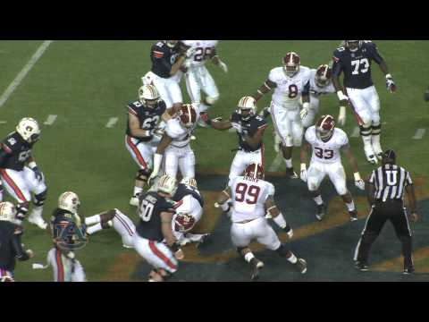 Vs. - Watch as No. 4 Auburn beats No. 1 Alabama 34-28 on the final play in the Iron Bowl at Jordan-Hare Stadium on November 30, 2013.