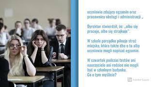 W Starogardzie Gdańskim dyrektor zakazał wstępu do szkoły strajkującym nauczycielom.