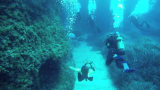 Cirkewwa Malta  city photo : Diving at Cirkewwa Arch, Malta 2011
