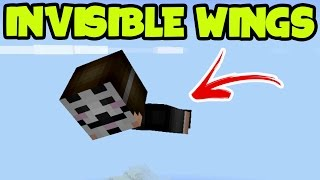 "MCPE 1.0 Update Gameplay - ""INVISIBLE ELYTRA WINGS"" // INVISIBLE WINGS Minecraft Pocket Edition"