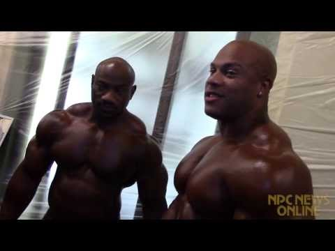 Phil Heath and Dexter Jackson Backstage at the 2013 NPC/IFBB Pittsburgh Championships